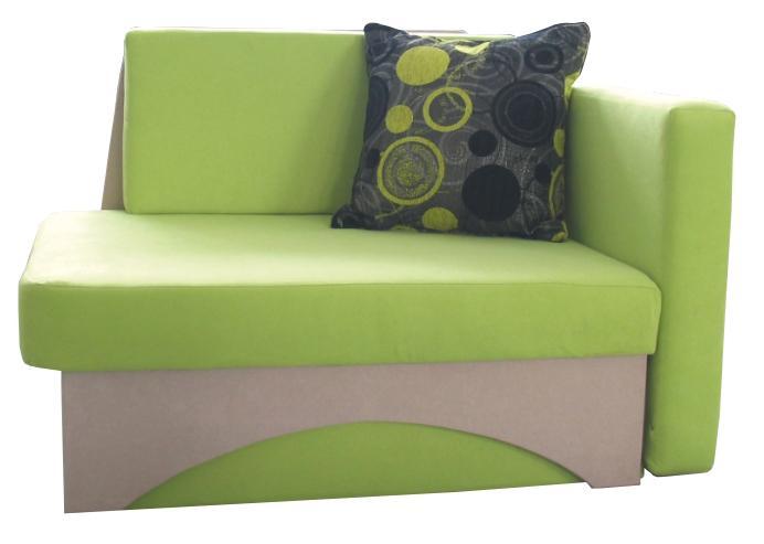 Detská sedačka Kuboš zelená + béžová (P)