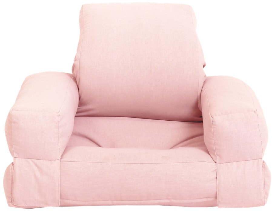 Detské rozkladacie kresielko Karup Design Mini Hippo Pink Peonie