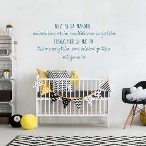 Detské samolepky na stenu - Než si sa narodil/a