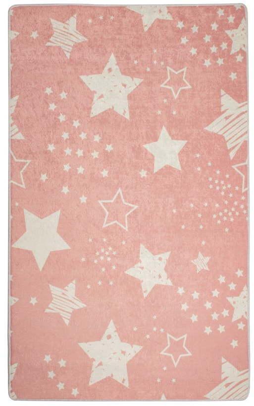 Detský koberec Pink Stars, 140 × 190 cm