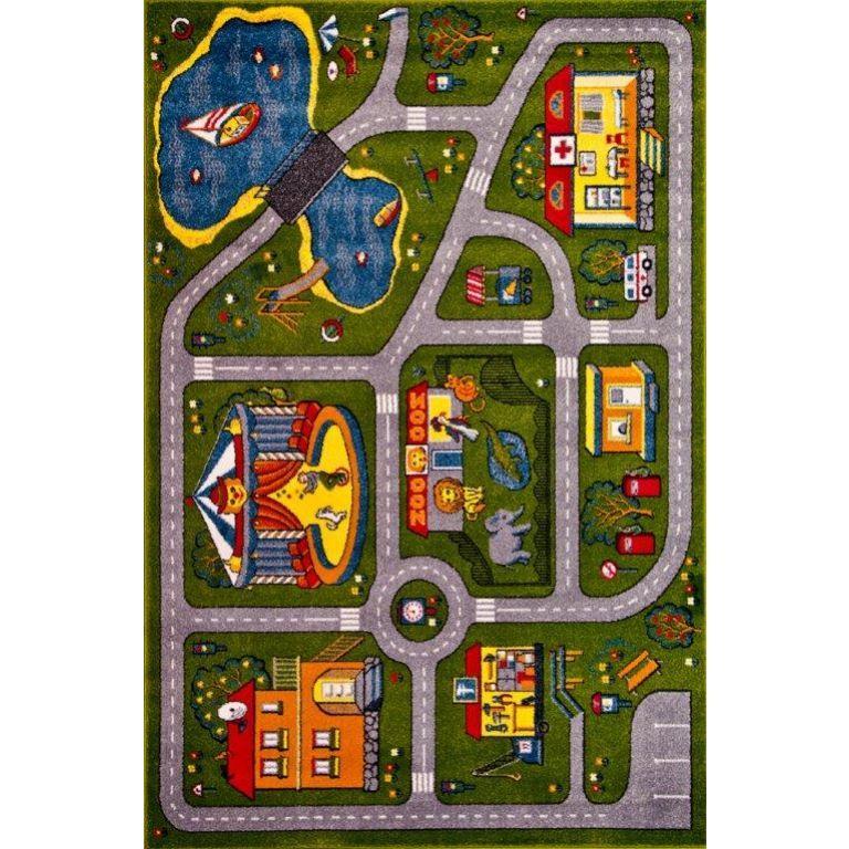 Detský koberec Rainbow AUTODRÁHA 11061/130