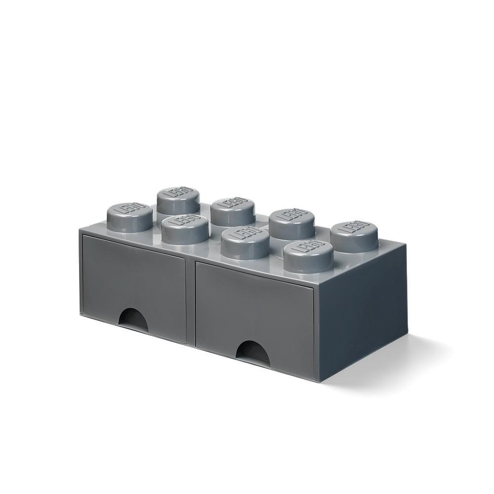 Detský tmavosivý úložný box s 2 zásuvkami LEGO®