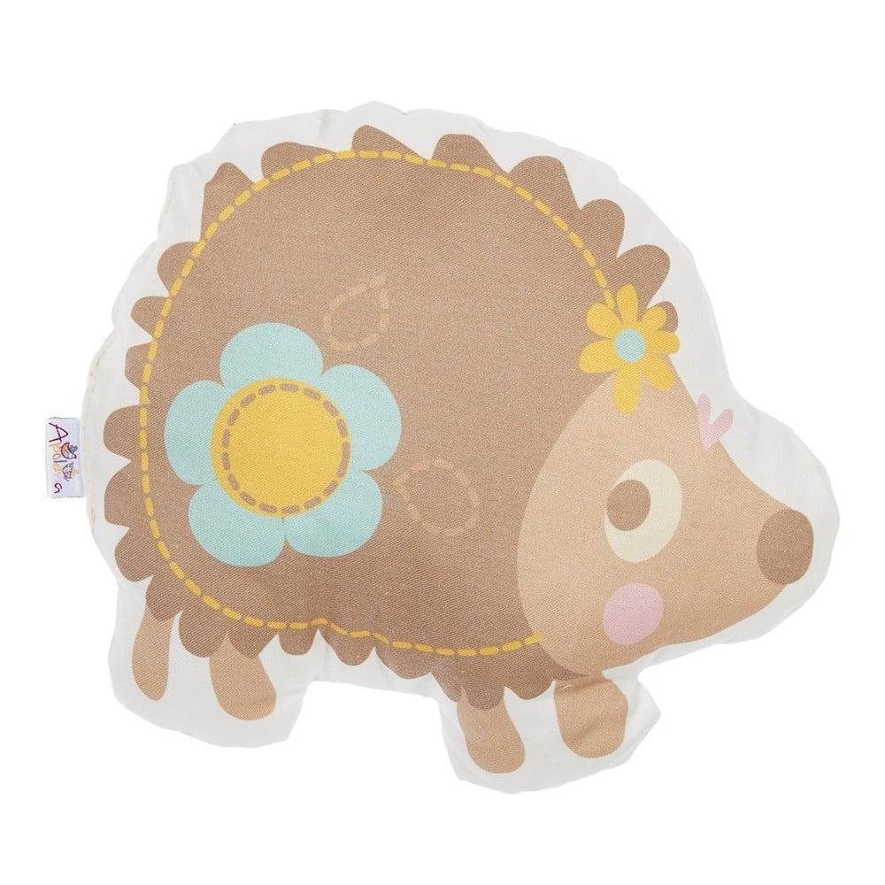 Detský vankúšik s prímesou bavlny Mike & Co. NEW YORK Pillow Toy Hedgehog, 28 x 25 cm