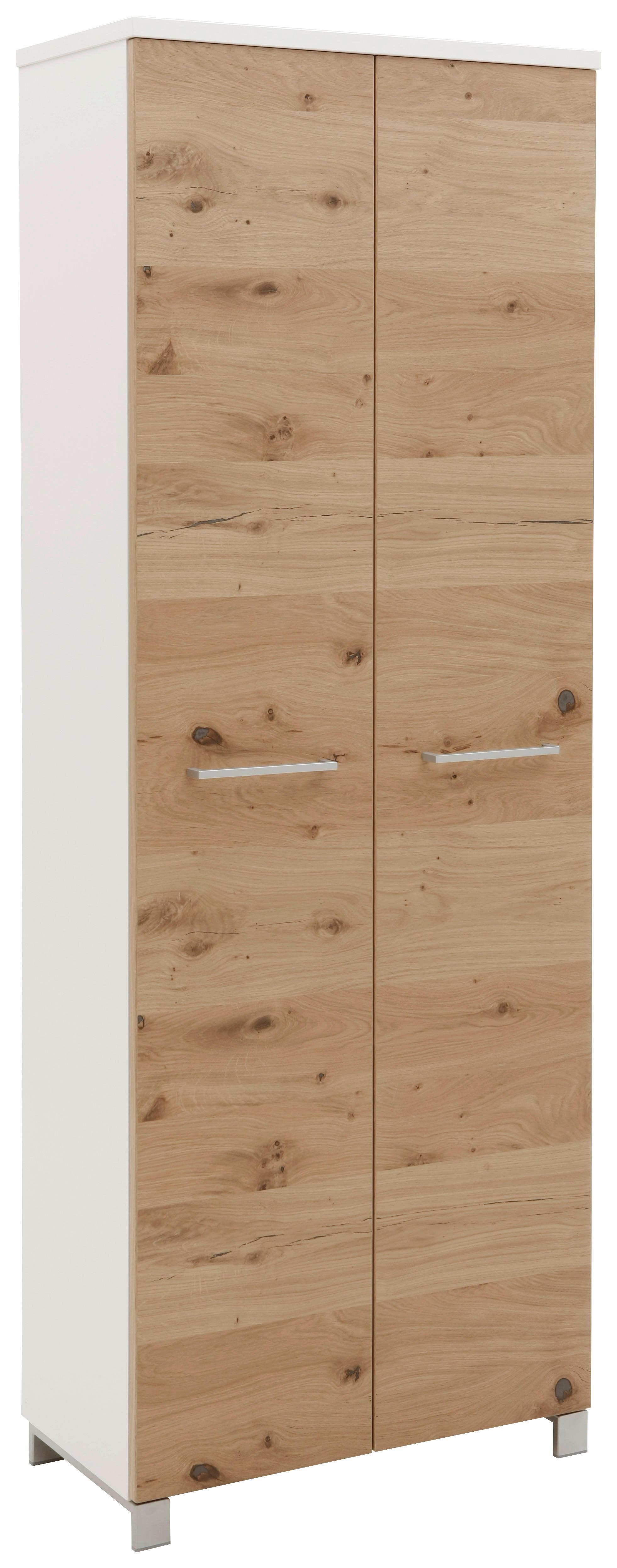Dieter Knoll ŠATNÍKOVÁ SKRIŇA, biela, farby dubu, trámový dub, 71/193/37 cm - biela, farby dubu