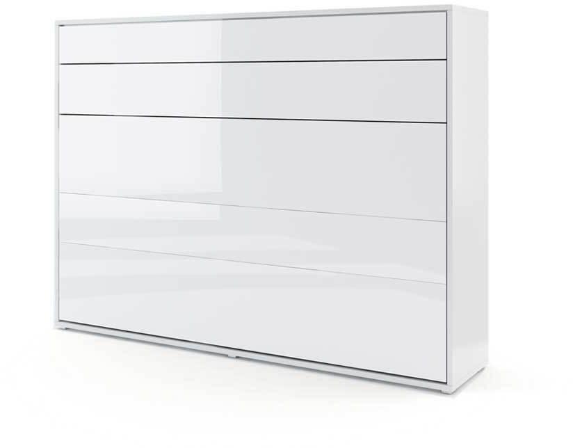 DIG-NET Lenart Sklápacia posteľ BED CONCEPT BC-04p FARBA: biely lesk