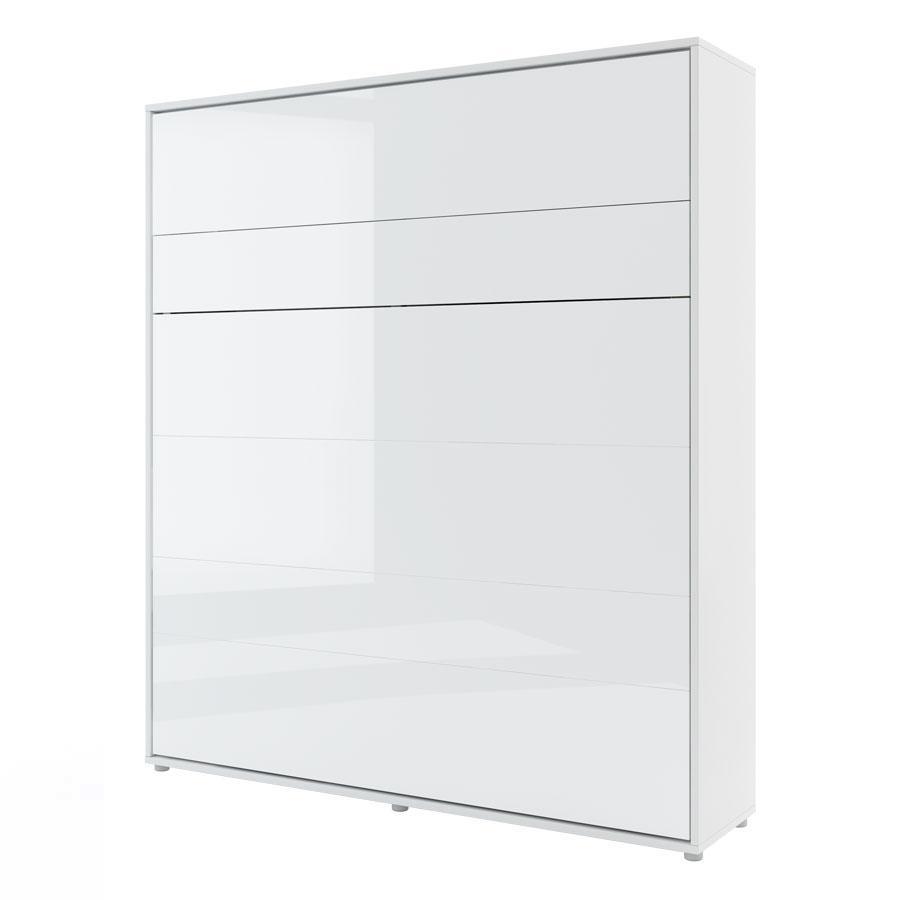 DIG-NET Lenart Sklápacia posteľ BED CONCEPT BC-13p FARBA: biely lesk