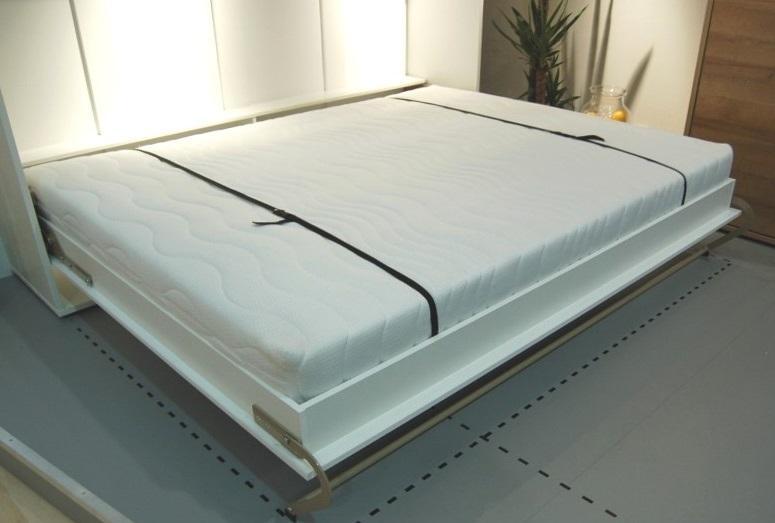 DIG-NET Lenart Sklápacia posteľ CONCEPT PRO horizontálna FARBA: biely lesk, ROZMER: 140 x 200 cm