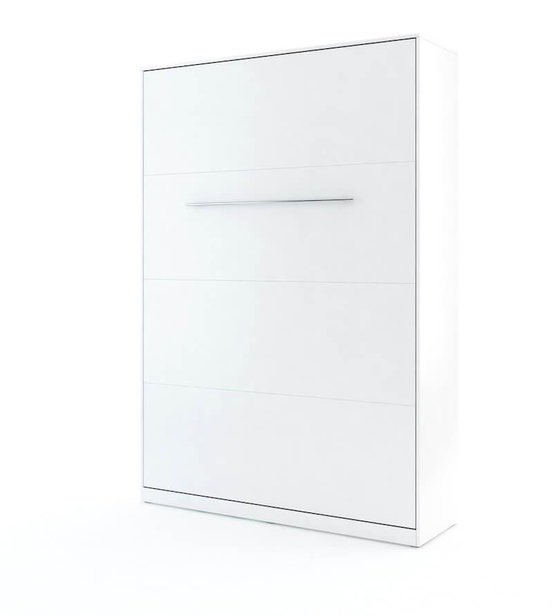 DIG-NET Lenart Sklápacia posteľ CONCEPT PRO vertikálna FARBA: biely lesk, ROZMER: 120 x 200 cm