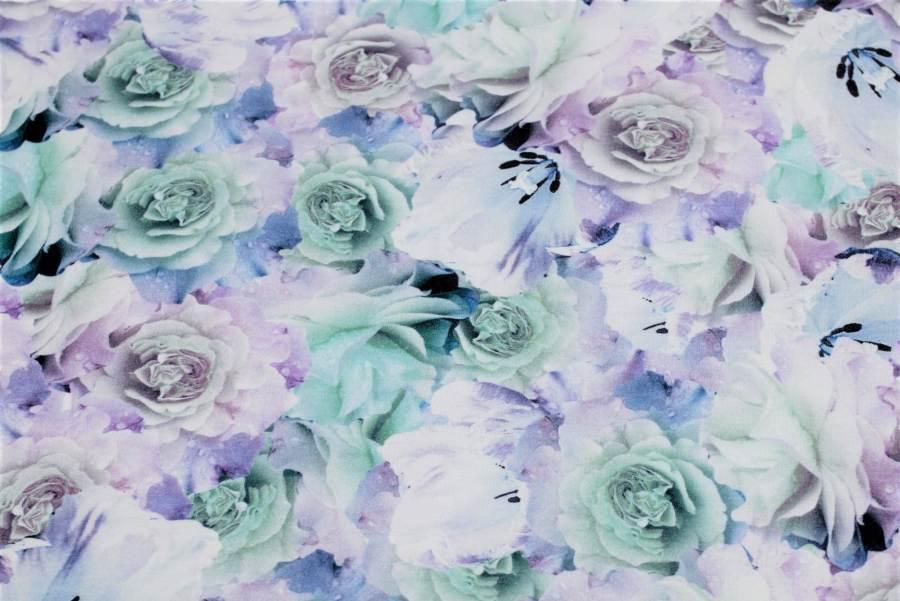 Divazo Teplákovina Nepočesaná 180 g/m2 Fialová Ruže