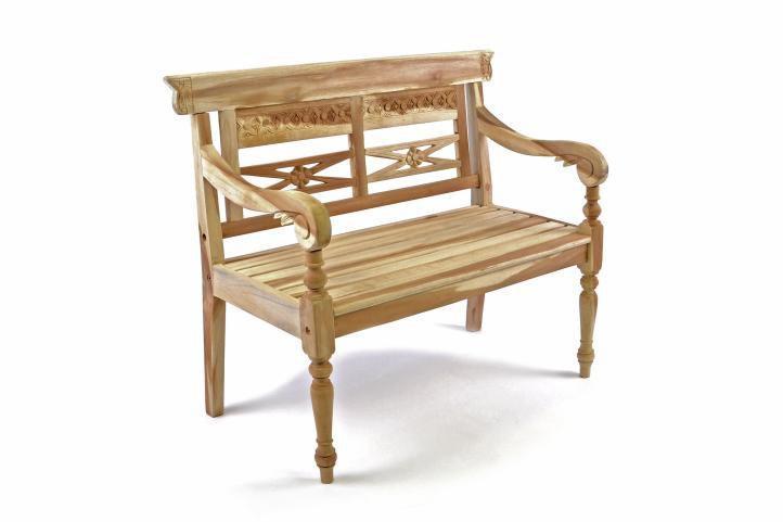 DIVERO drevená 2-miestna lavica pre deti z teakového dreva