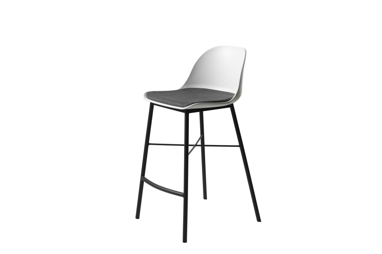 Dizajnová barová stolička Jeffery biela