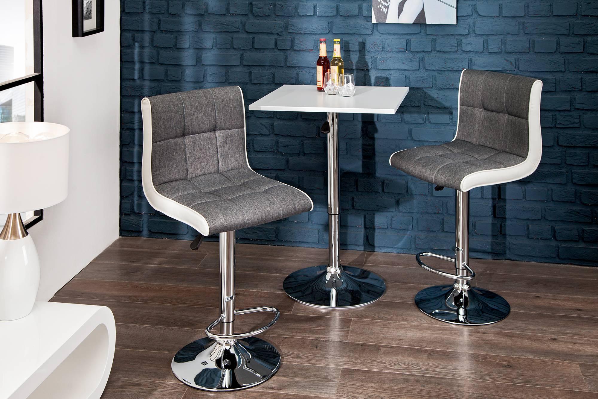 Dizajnová barová stolička Modern šedo biela - Skladom na SK - Rp