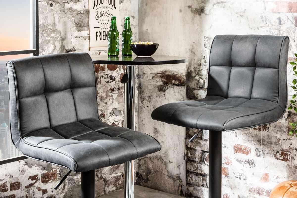 Dizajnová barová stolička Modern vintage sivá