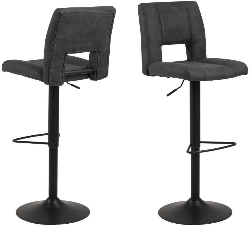 Dizajnová barová stolička Nerine, antracitová