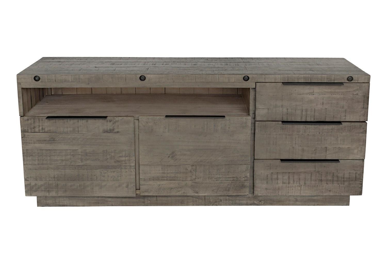 Dizajnová komoda Harlow 150 cm sivá - borovica