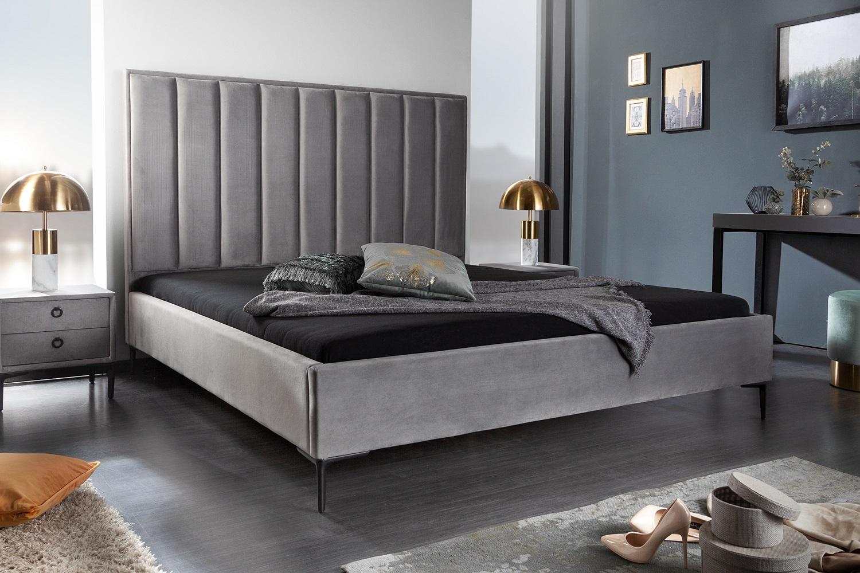 Dizajnová posteľ Gallia 180 x 200 cm strieborno-sivá