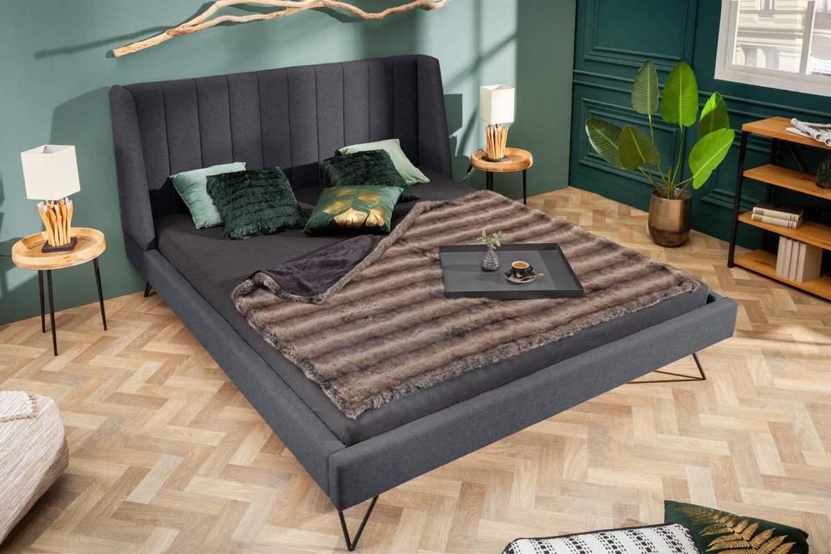 Dizajnová posteľ Phoenix 160 x 200 cm antracit