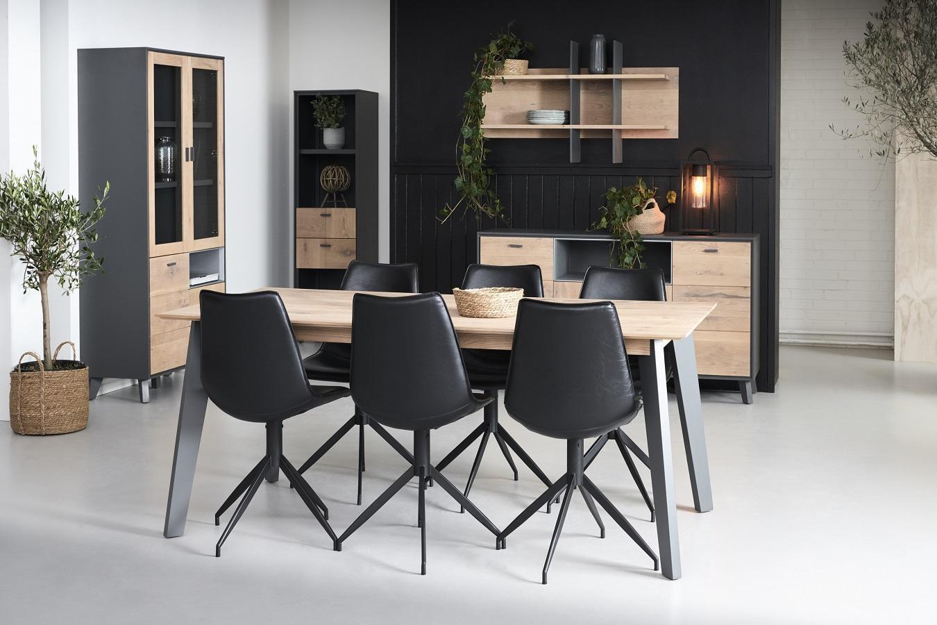 Dizajnová stolička Aaru, čierna