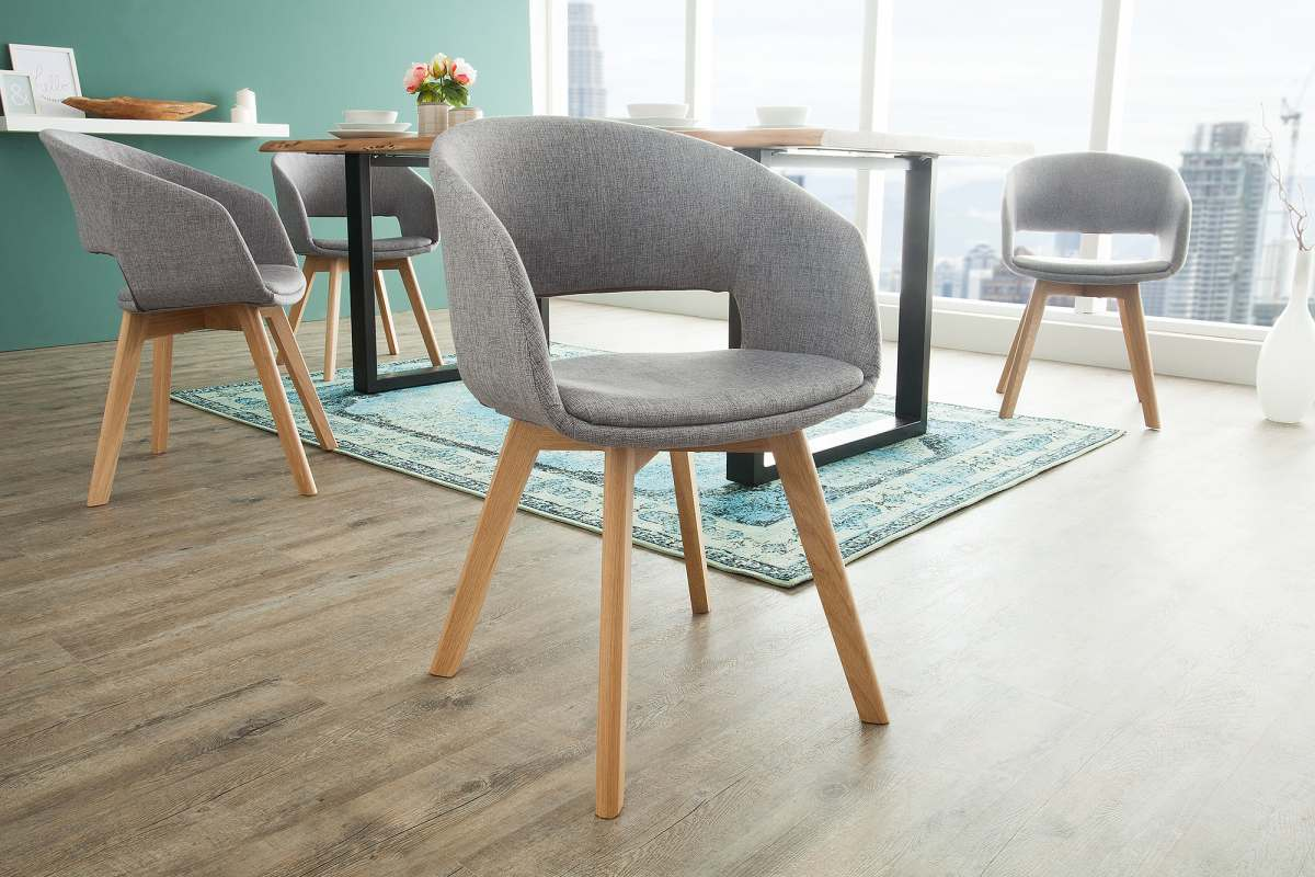 Dizajnová stolička Colby sivá antik