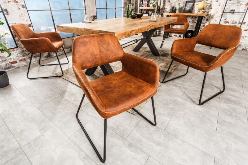 Dizajnová stolička Derrick hnedá Antik