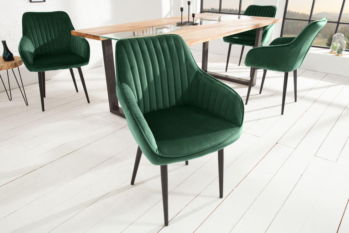 Dizajnová stolička Esmeralda, zelená