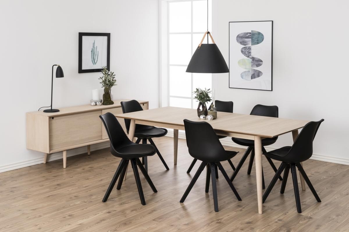 Dizajnová stolička Nascha, čierna