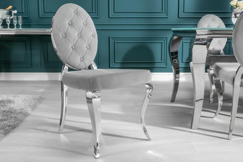 Dizajnová stolička Rococo II šedá