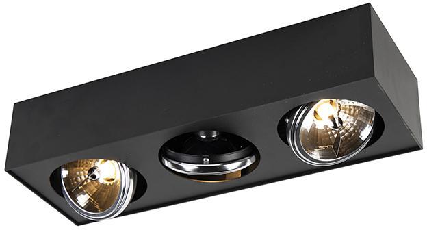 Dizajnové bodové 3-svetlá vrátane G9 čierna - Kaya