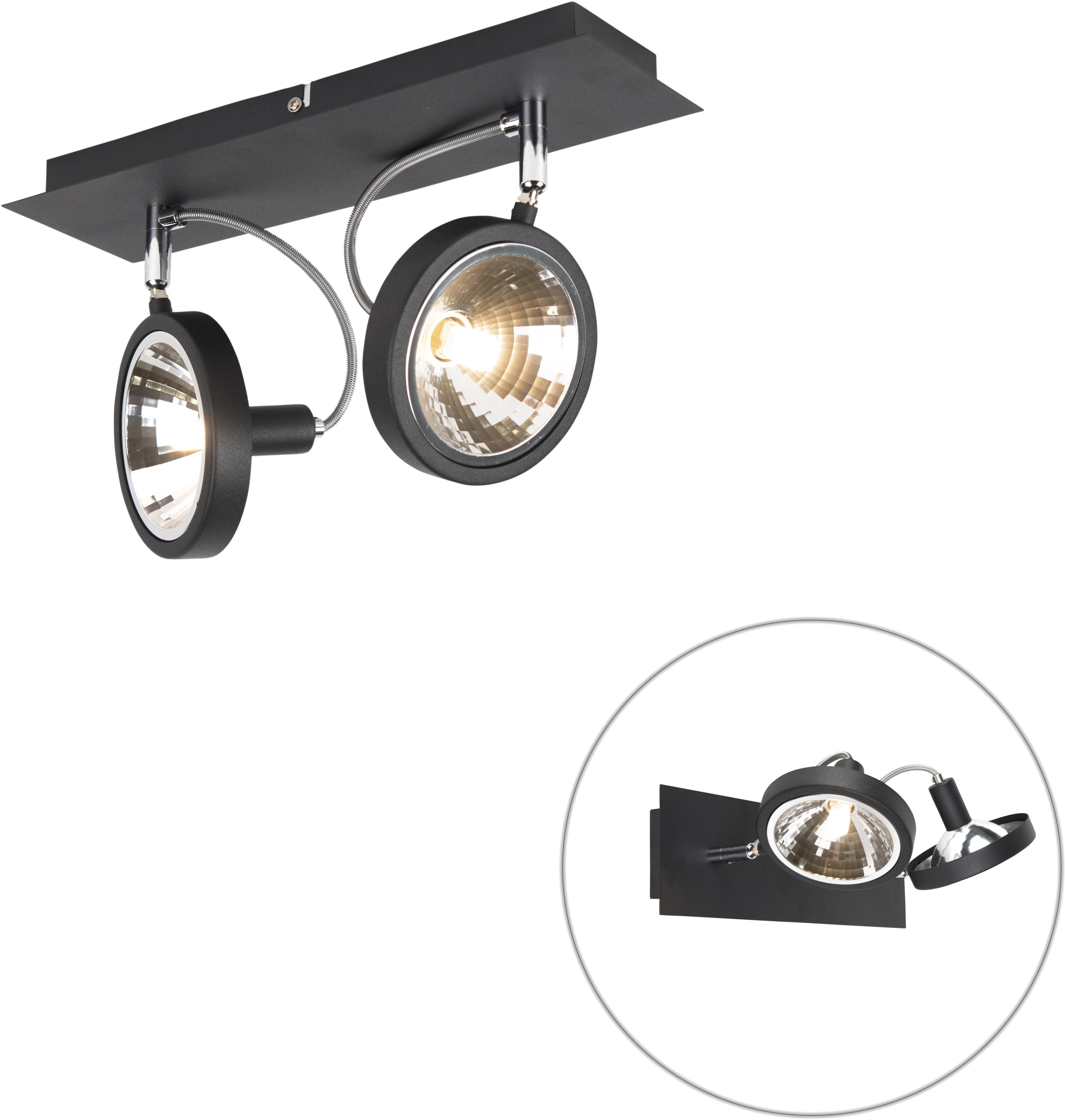 Dizajnové bodové čierne 2 nastaviteľné svetlá - Nox