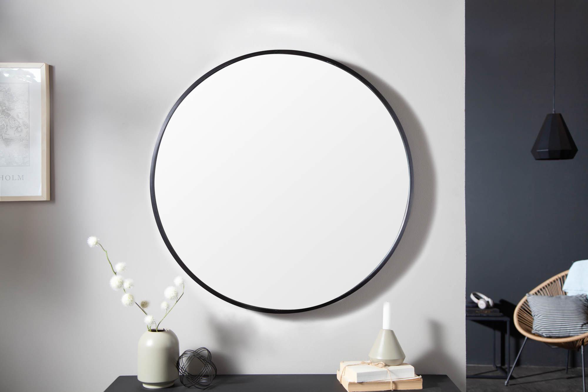 Dizajnové nástenné zrkadlo Daiwa 80 cm čierne