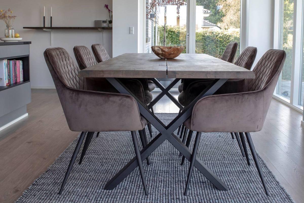 Dizajnový jedálenský stôl Jonathon 200 cm dymový dub