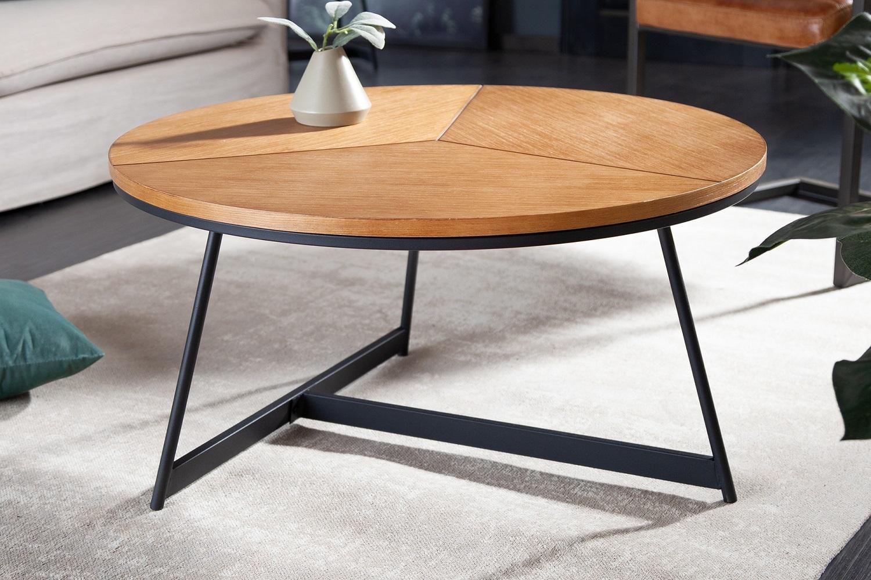 Dizajnový konferenčný stolík Faxon 80 cm imitácia dub