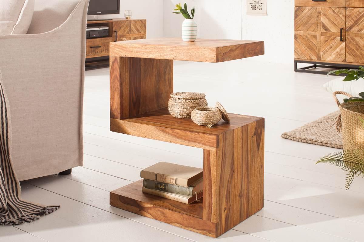 Dizajnový odkladací stolík Ari, 60 cm, sheesham