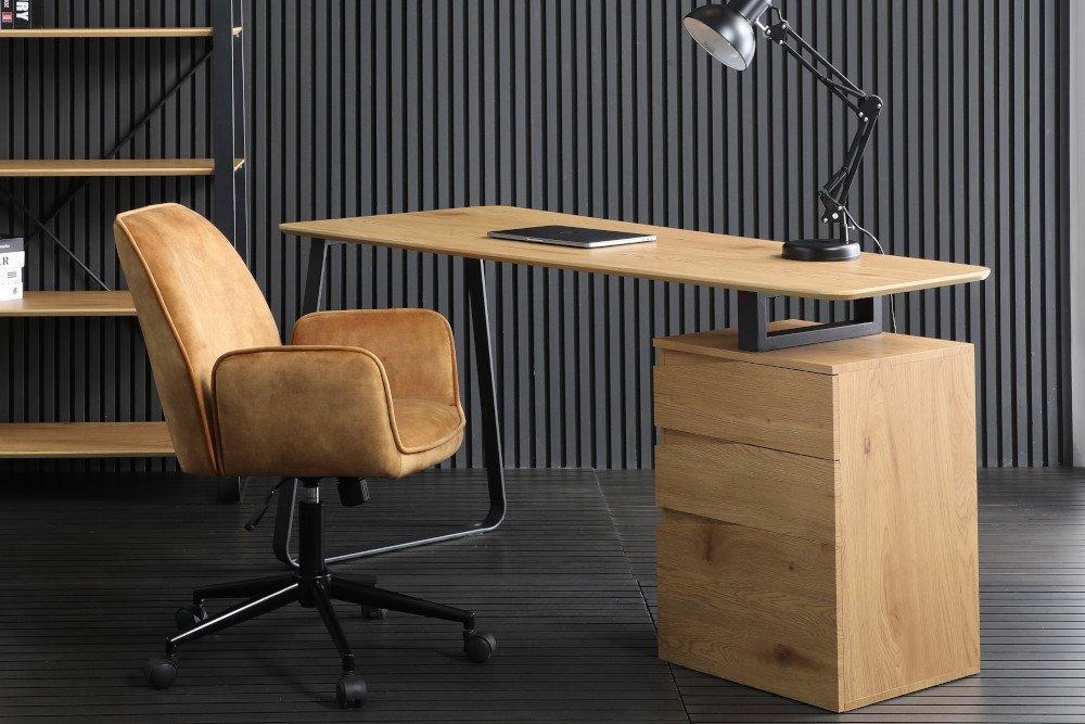Dizajnový písací stôl Kiana 160 cm vzor dub