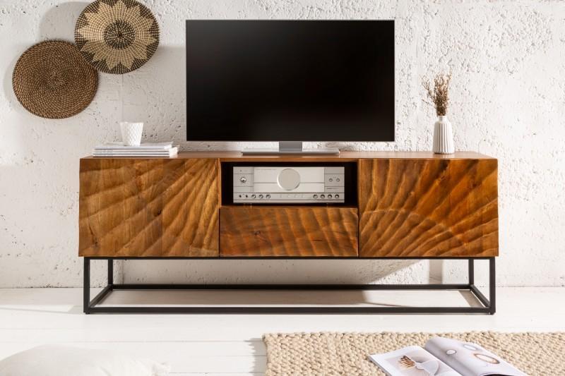 Dizajnový TV stolík Shayla 160 cm mango