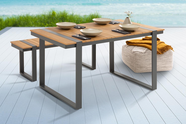 Dizajnový záhradný stôl Gazelle 123 cm Polywood
