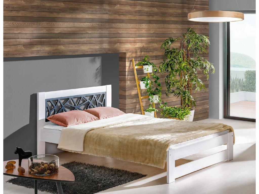 DL Manželská masívna posteľ ROMA Rozmer lôžka: 160x200