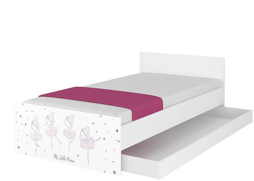 DO Detská posteľ Ballerina - biela Variant rozmer lôžka: 160x80