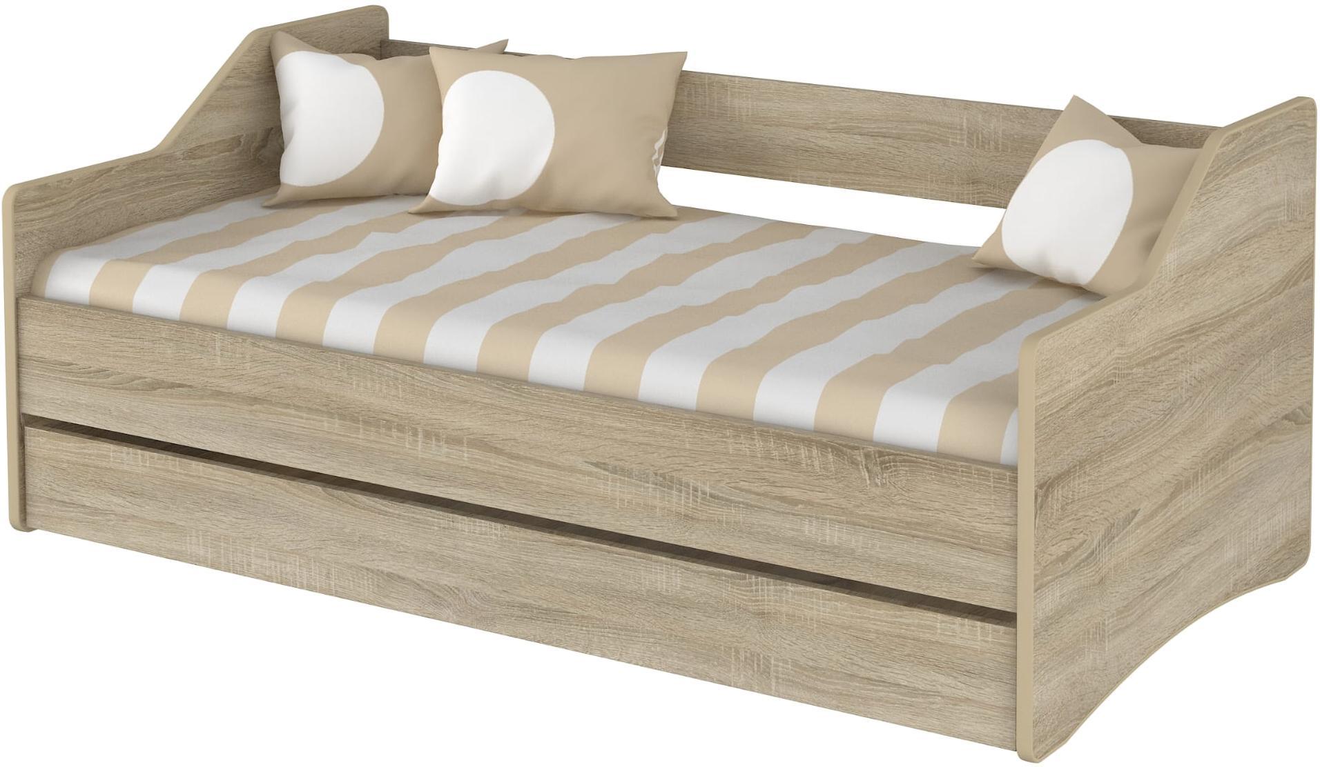 DO Detská posteľ Lulu 180x80 - dub sonoma