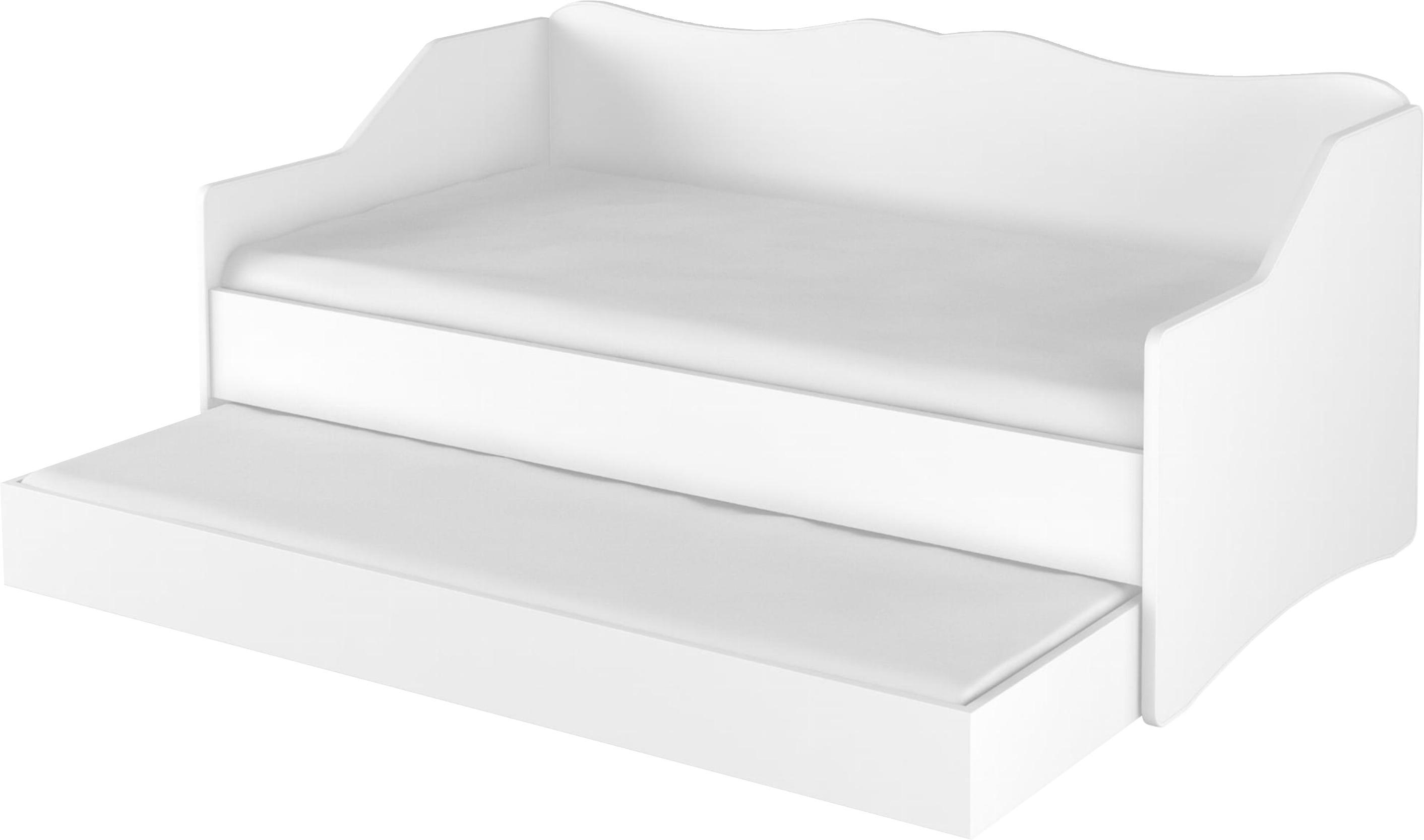 DO Detská posteľ Lulu s prístelkou 160x80 - biela