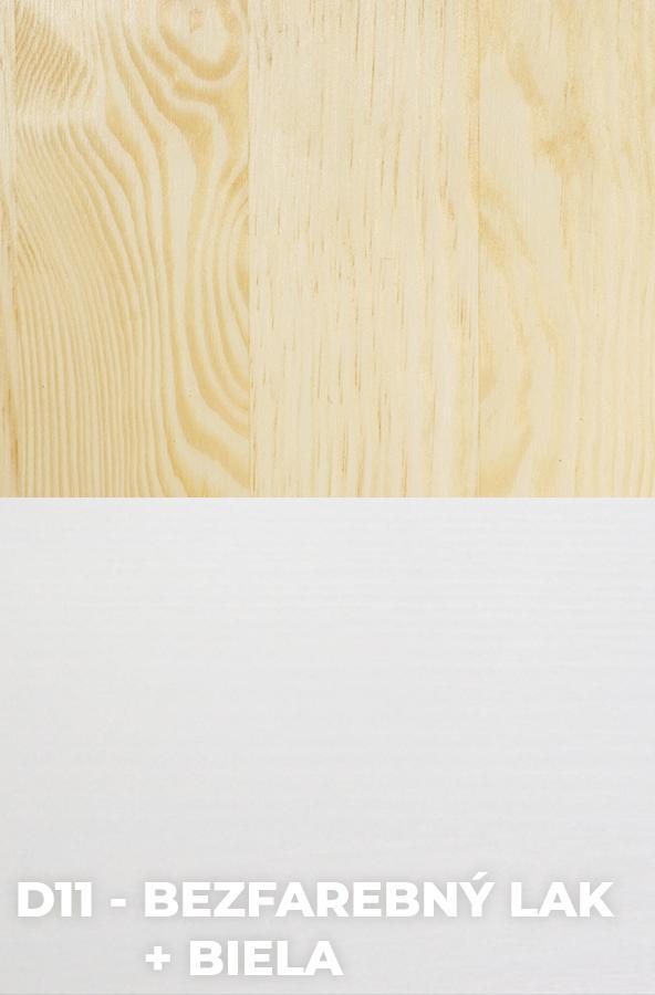 DOK Regál z masívu Malmo Povrchová úprava:: D11 - Bezfarebný lak + Biela