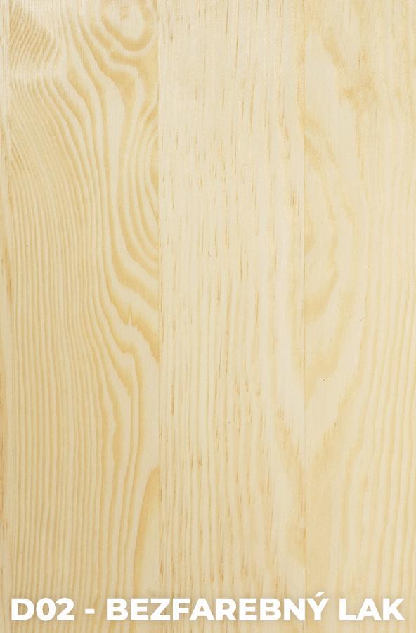 DOK Regál z masívu Modern II Povrchová úprava:: D02 - Bezfarebný lak