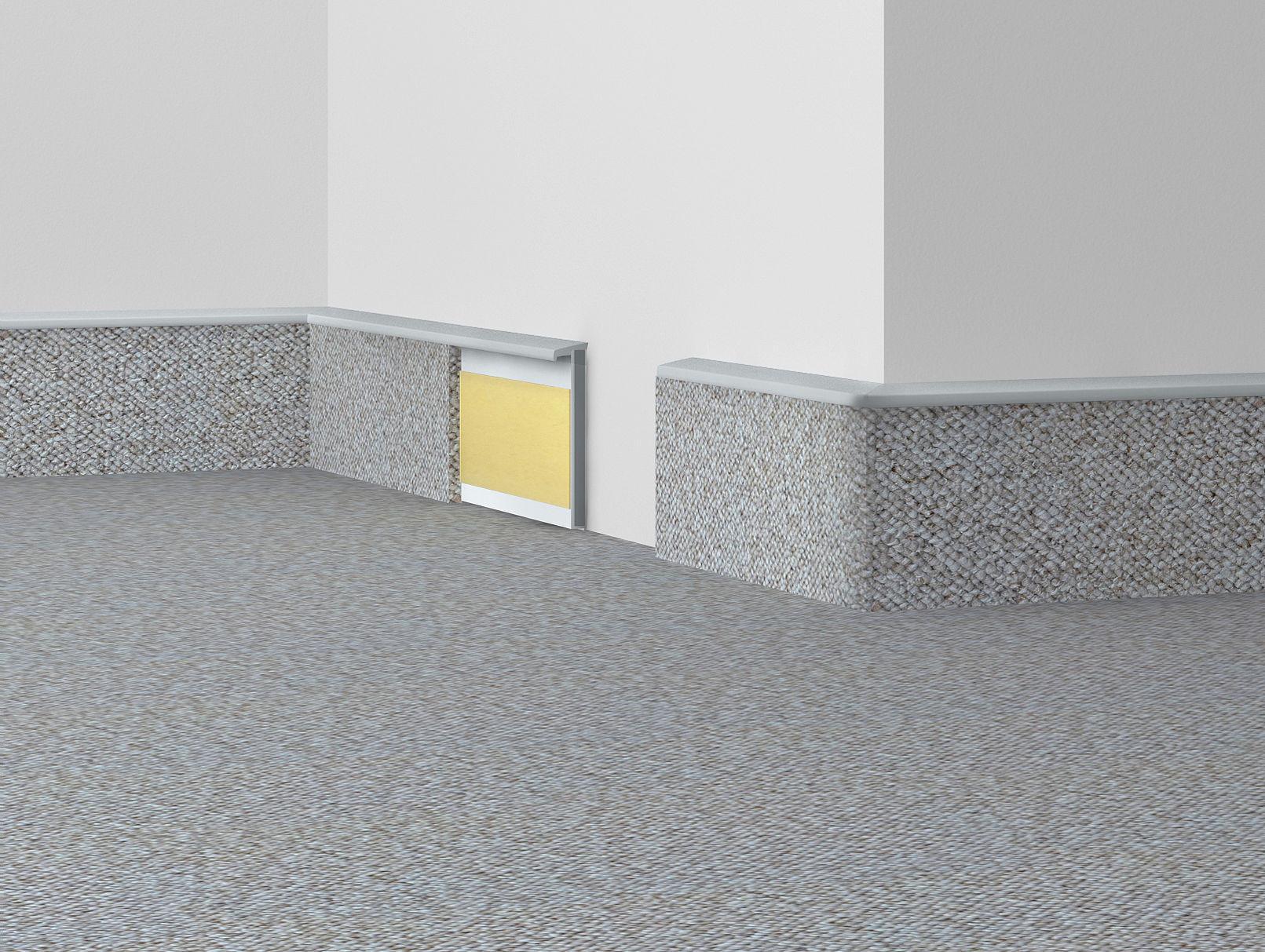 Döllken Kobercová (soklová) lišta TL55 138 světle šedá 250 cm - Lišta 10x55x2500 mm
