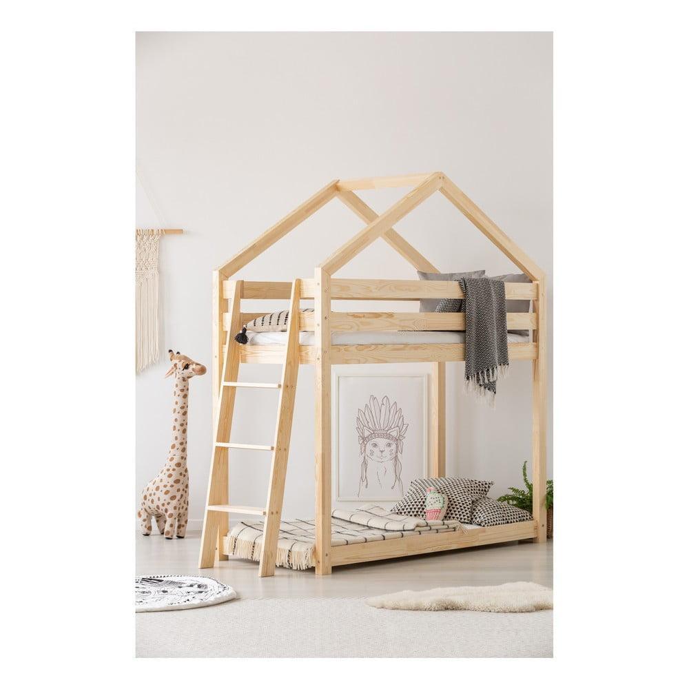Domčeková palanda z borovicového dreva Adeko Mila DMPB, 70 × 160 cm