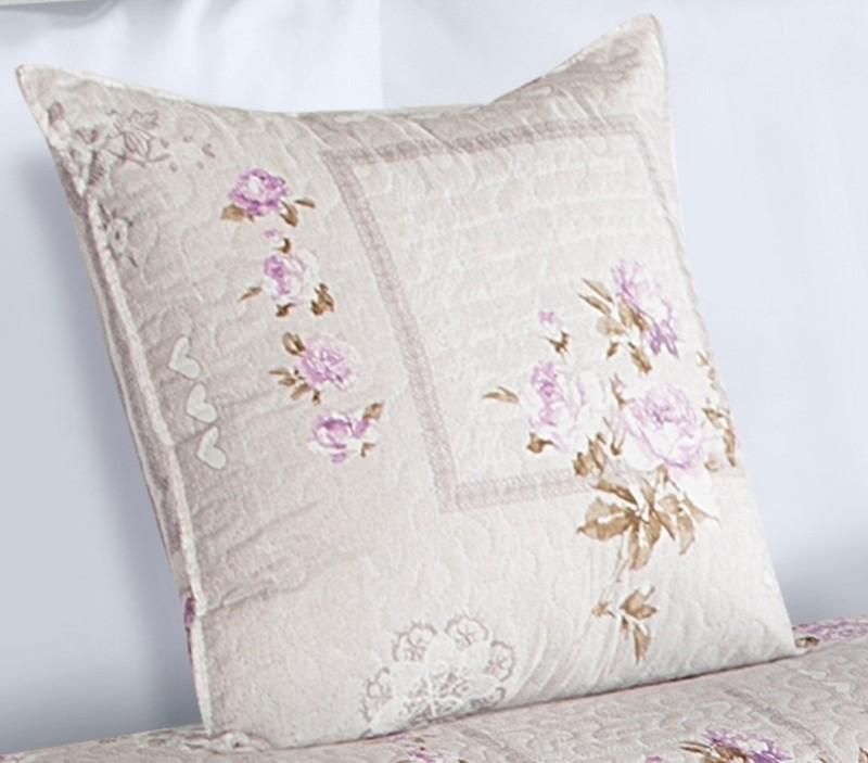 DomTextilu Béžové obliečky na vankúše s motívom ruží 40x40 cm 7382-105035
