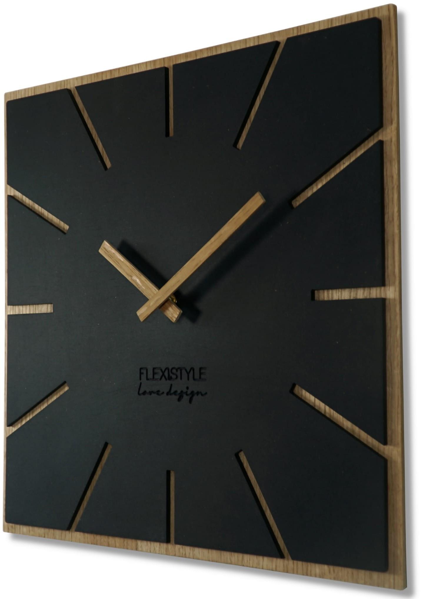 DomTextilu Brilantné nástenné hodiny pre moderný interiér 40 cm 47308