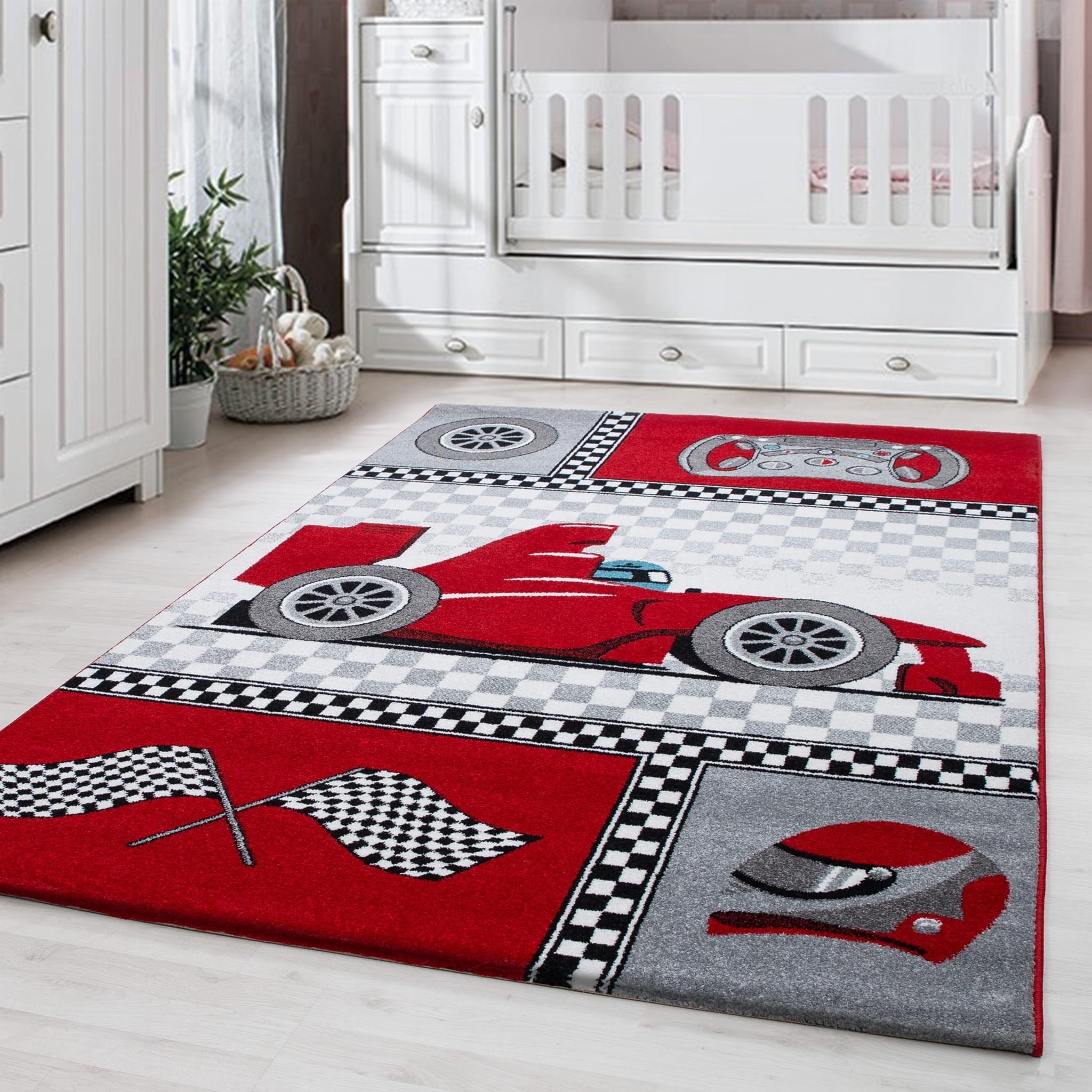 DomTextilu Červený koberec do chlapčenskej izby formula 42006-197354