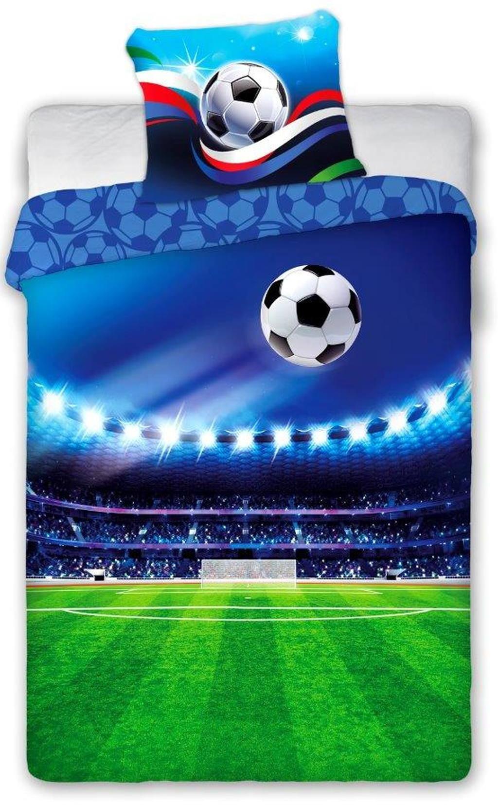DomTextilu Desteké posteľné obliečky s motívom futbalu 2 časti: 1ks 140 cmx200 + obliečka 70 cmx90 70x90 cm 25880-150192