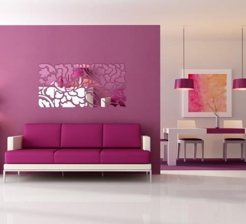 DomTextilu Dizajnové hranaté zrkadlá do moderného interiéru 8105