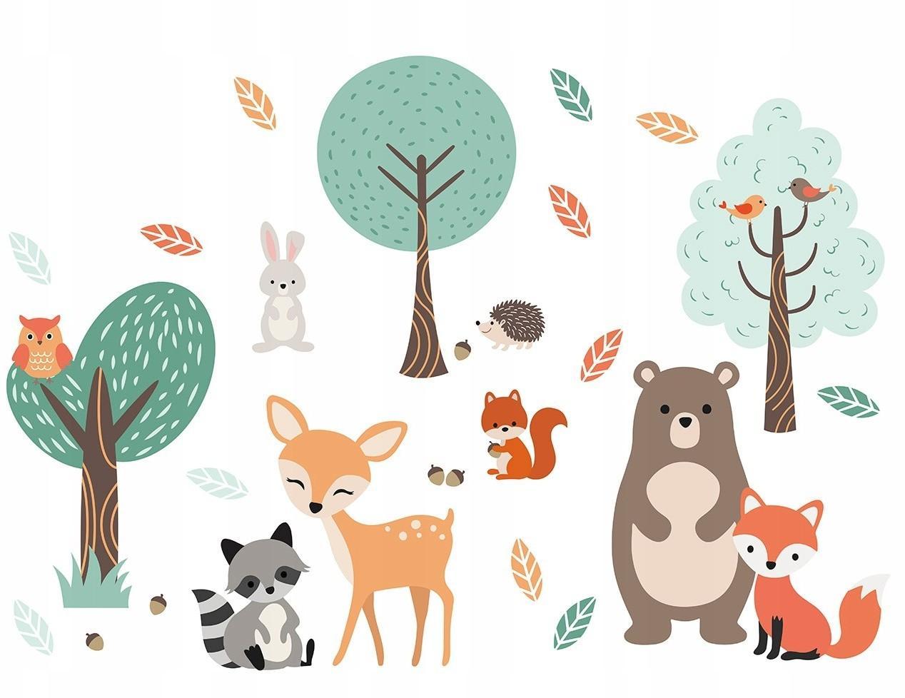 DomTextilu Dekoračné nálepky na stenu so zvieratkami 41799 Hnedá